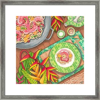 Stir Fry  Framed Print by Tammy Yee