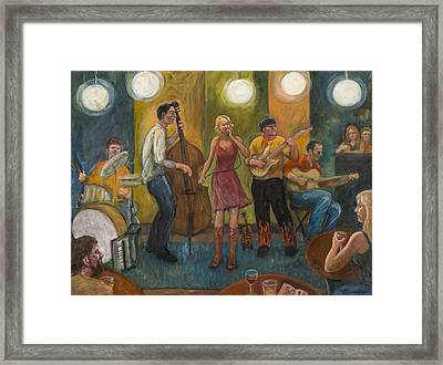 Stirfry At The Cafe Framed Print