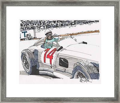 Stirlig Moss Mercedes Benz Grand Prix Of Belgium Framed Print