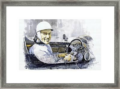 Stirling Moss Framed Print