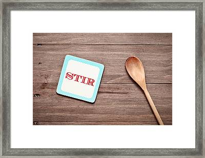 Stirring Spoon Framed Print