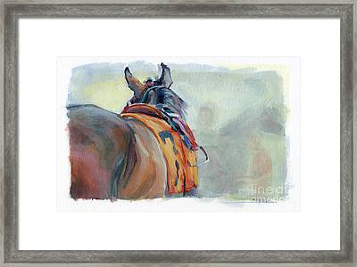 Stirrup Framed Print by Kimberly Santini