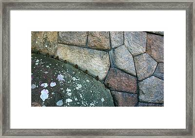 Stitched Stones Framed Print by Leena Pekkalainen