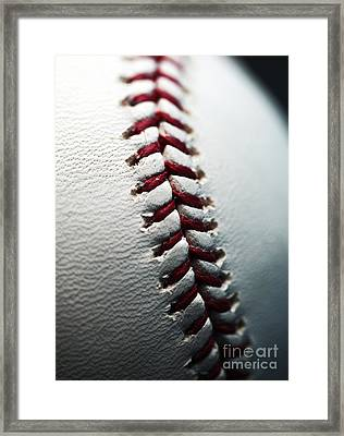 Stitches II Framed Print by John Rizzuto