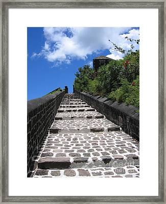 Framed Print featuring the photograph St.kitts - Ascent by HEVi FineArt