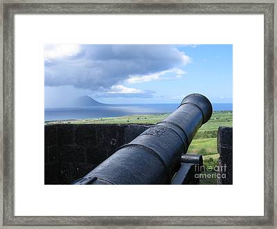 Framed Print featuring the photograph St.kitts Nevis - On Guard by HEVi FineArt