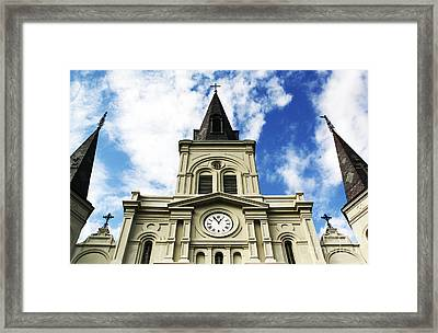 St. Louis Cathedral Up Close Framed Print by John Rizzuto