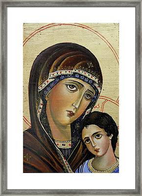 St.mary With  Jessus  Framed Print