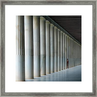 Stoa Of Attalos Framed Print