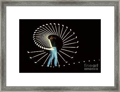 Stroboscopic Golf Swing Framed Print