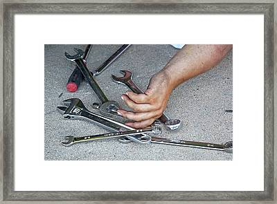 Stock Car Racing Framed Print by Jim West