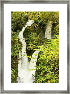 Stock Ghyll Waterfall In Ambleside Framed Print