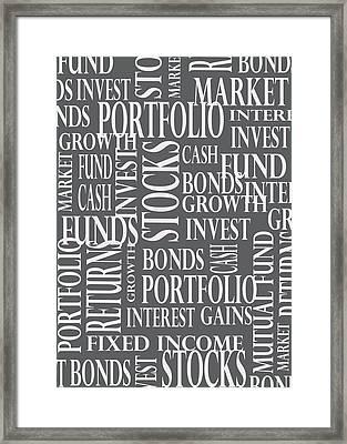 Stock Market Greeting Card Framed Print