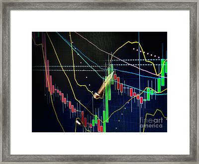 Stock Market Framed Print by Sinisa Botas
