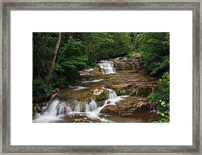 Framed Print featuring the photograph Stockbridge Falls by Dave Files