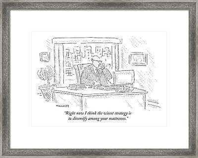 Stockbroker Framed Print