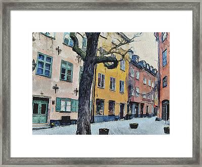 Stockholm 14 Framed Print
