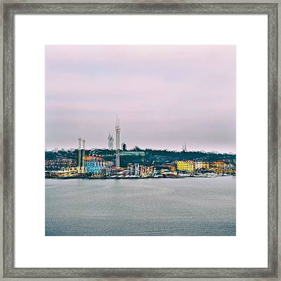 Stockholm Double Exposure Framed Print by Stelios Kleanthous