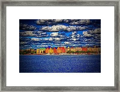 Stockholm Experimental Hdr Framed Print by Ramon Martinez