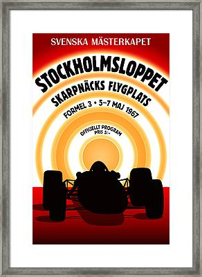 Stockholm Formula 3 1967 Framed Print by Georgia Fowler