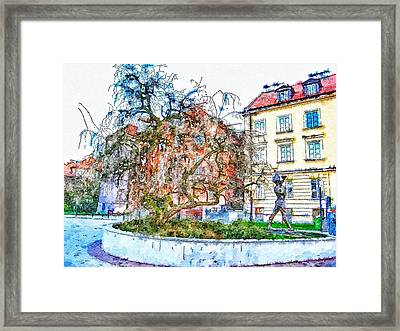 Stockholm Galma Stan Old Town Framed Print