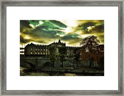 Stockholm In Autumn Iv Framed Print by Ramon Martinez