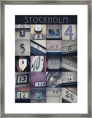 Stockholm In Numbers Framed Print