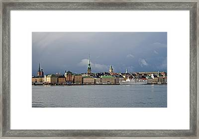 Stockholm Old Town Framed Print by Torbjorn Swenelius