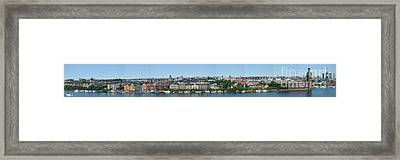 Stockholm Panoramic View Framed Print by Pg Reproductions