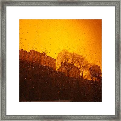 Stockholm The Heights Of South In Silhouette Framed Print