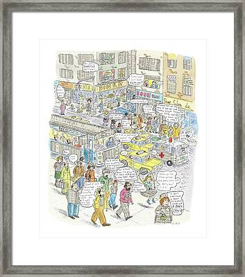 'stockopolis' Framed Print by Roz Chast