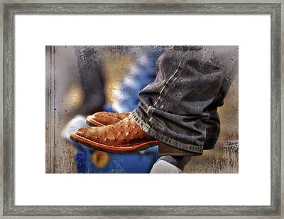 Stockshow Boots IIi Framed Print