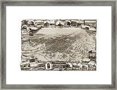 Stockton San Joaquin County California  1895 Framed Print by California Views Mr Pat Hathaway Archives