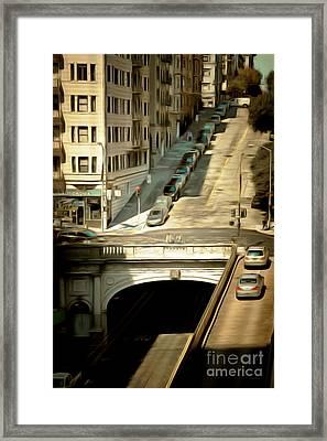 Stockton Street Tunnel San Francisco 7d7499brun Framed Print by Wingsdomain Art and Photography
