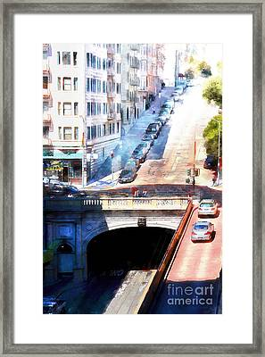 Stockton Street Tunnel San Francisco 7d7499wcstyle Framed Print