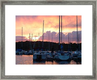 Stockton Sunset Framed Print