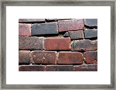 Stockyards Brick Framed Print