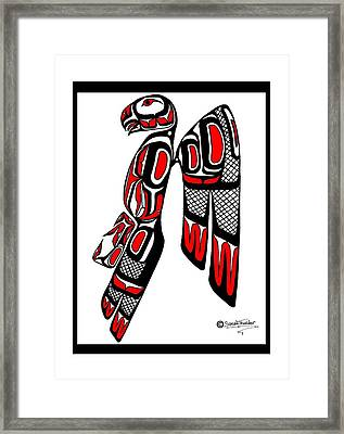 Stoic Falcon Framed Print by Speakthunder Berry