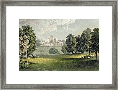 Stoke Park, From Ackermanns Repository Framed Print