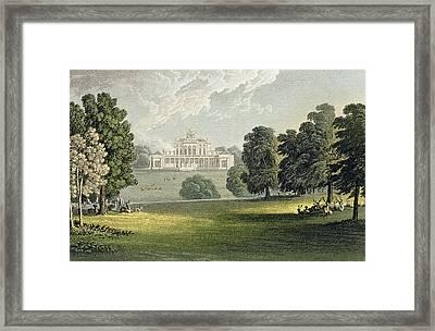 Stoke Park, From Ackermanns Repository Framed Print