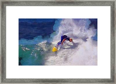Stoked Surfer Framed Print by Dan Sproul