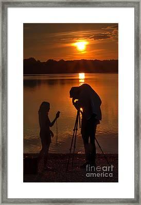 Stolen Moment Framed Print