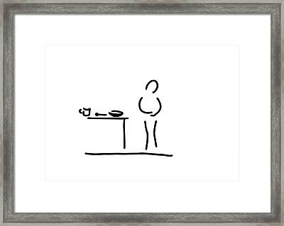Stomach-ache Digestion Stomachaches Framed Print by Lineamentum
