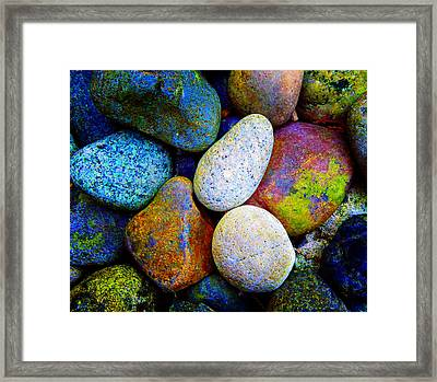 Stone And Light 9 Framed Print