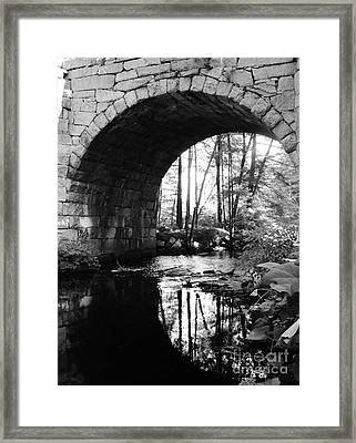 Stone Arch Bridge 2 Framed Print by Barbara Bardzik
