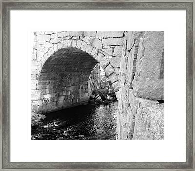 Stone Arch Bridge 3 Framed Print by Barbara Bardzik