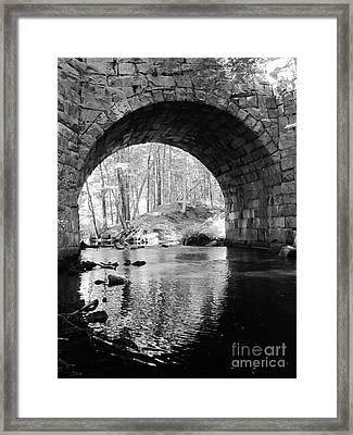 Stone Arch Bridge  Framed Print by Barbara Bardzik