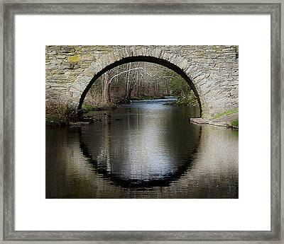 Stone Arch Bridge - Craquelure Texture Framed Print by EricaMaxine  Price