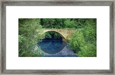 Stone Arch Bridge In Butler County Framed Print