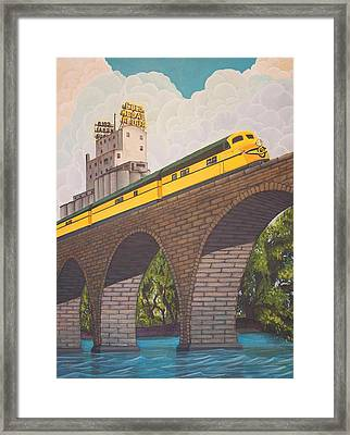 Stone Arch Bridge Framed Print by Jude Labuszewski